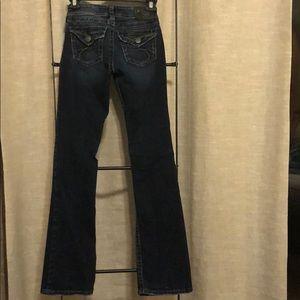 Silver blue jeans